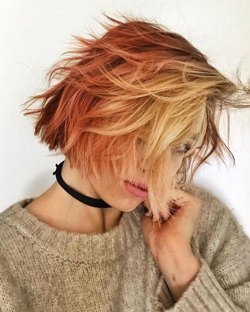 Shaggy Red Bob