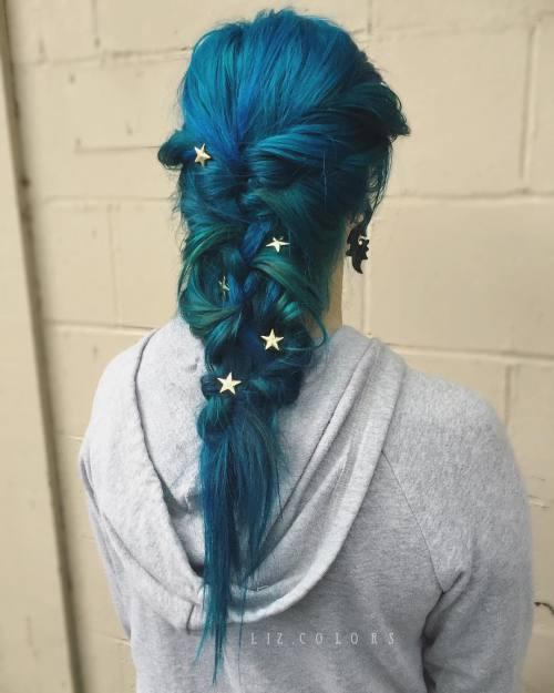 Blue And Teal Mermaid Braid