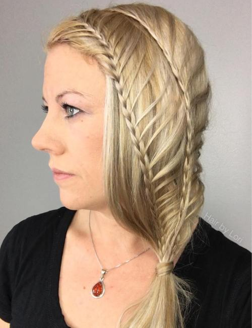 Asymmetrical Double Mermaid Braid
