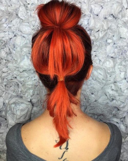 Bubble Pferdeschwanz für mittleres Haar