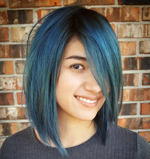 Layered Blue Bob
