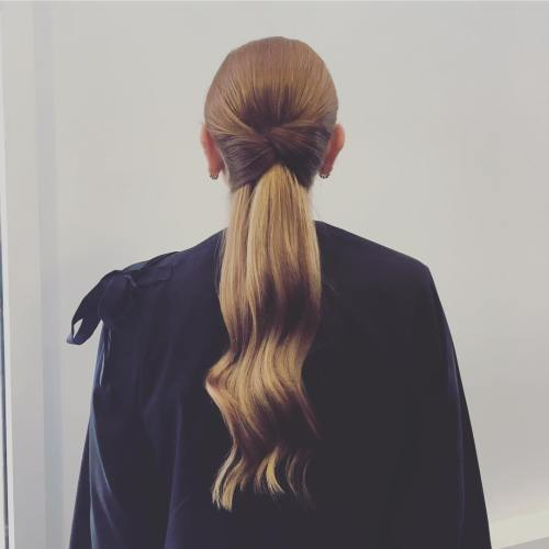 Low Ponytail With Hair Bow