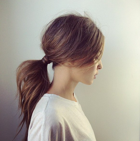 Low Voluminous Ponytail