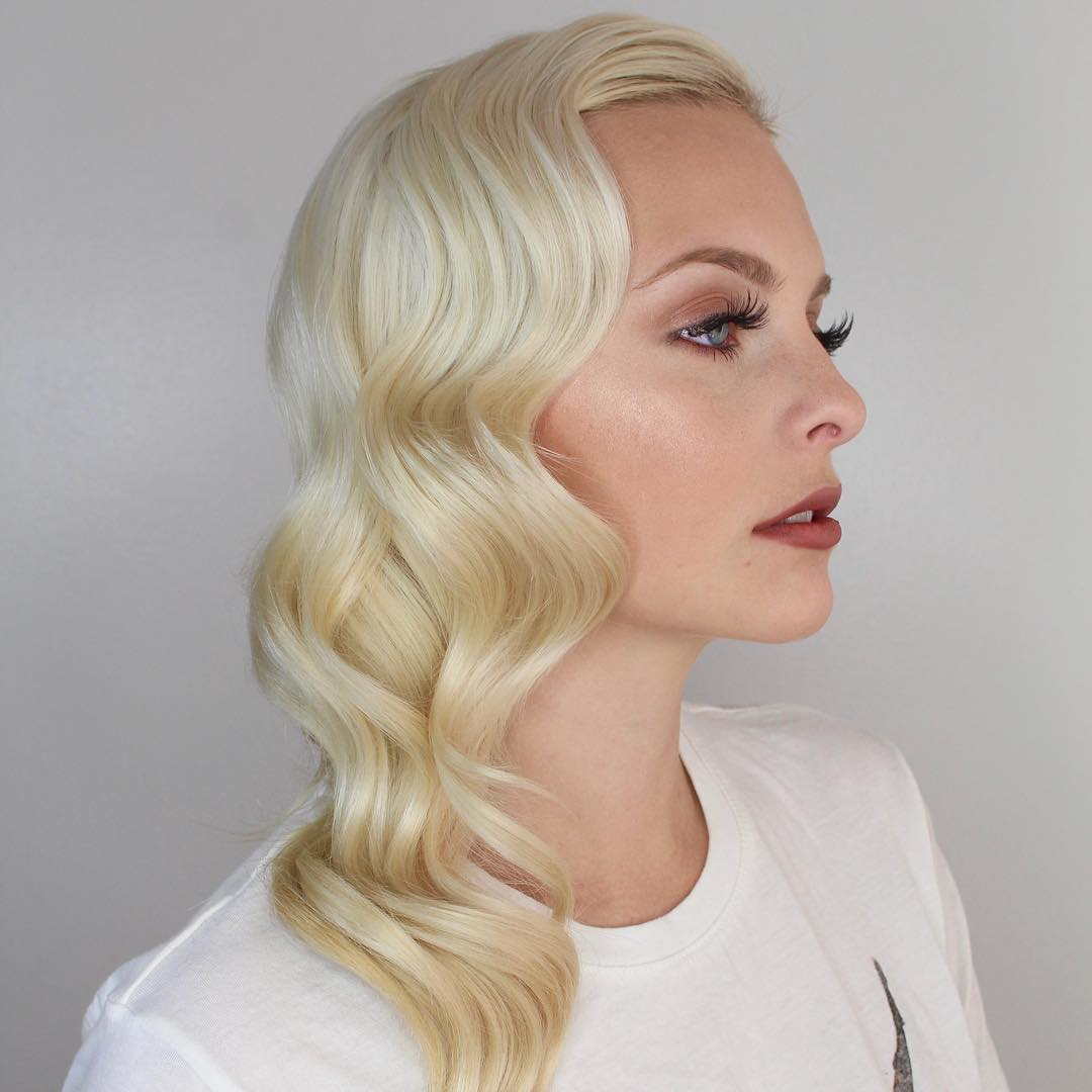Vintage Side Waves Hairstyle