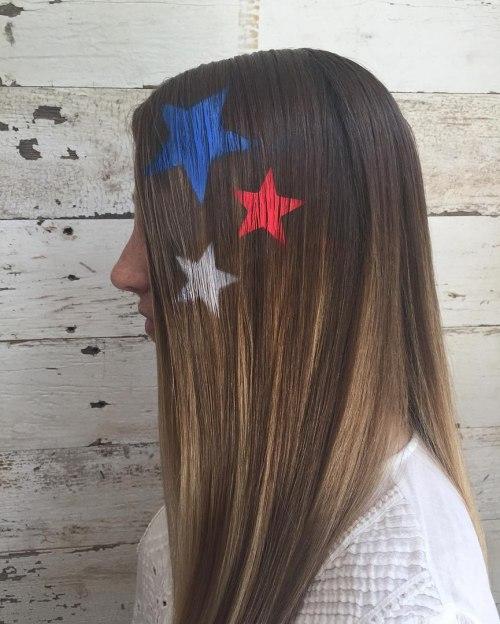 Colorful Stars Hair Stencils