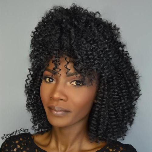 curly crochet hair styles 20 cool crochet braids for your inspiration 1236