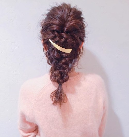 Messy Braided Downdo