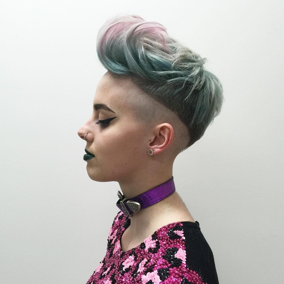 Short Pastel Undercut Hairstyle