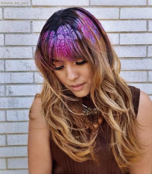 Purple Hair Tat For Caramel Hair