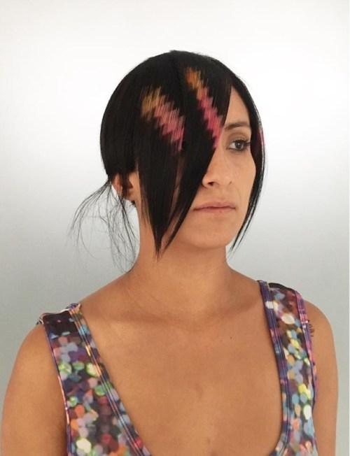 Pink Hair Graffiti For Bangs