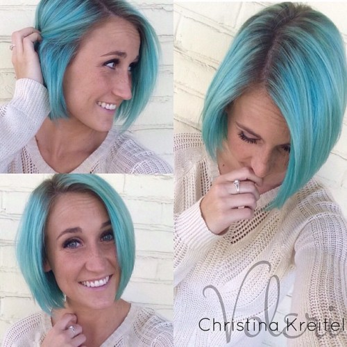 30 Icy Light Blue Hair Color Ideas for Girls - photo #22