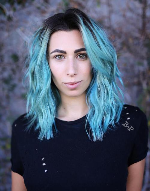 30 Icy Light Blue Hair Color Ideas for Girls - photo #25