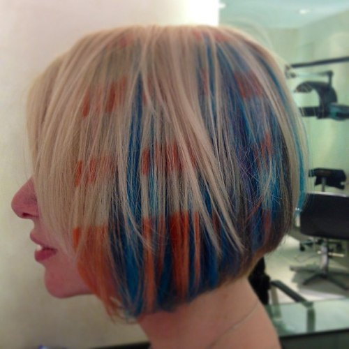 Graffiti Hair Chalk For Blonde Bob