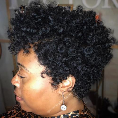 Short Curly Natural Hairstyle