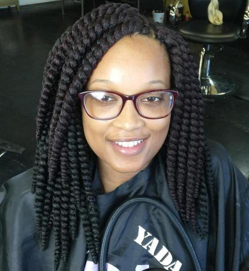 Medium Lenght Thick Crochet Twists