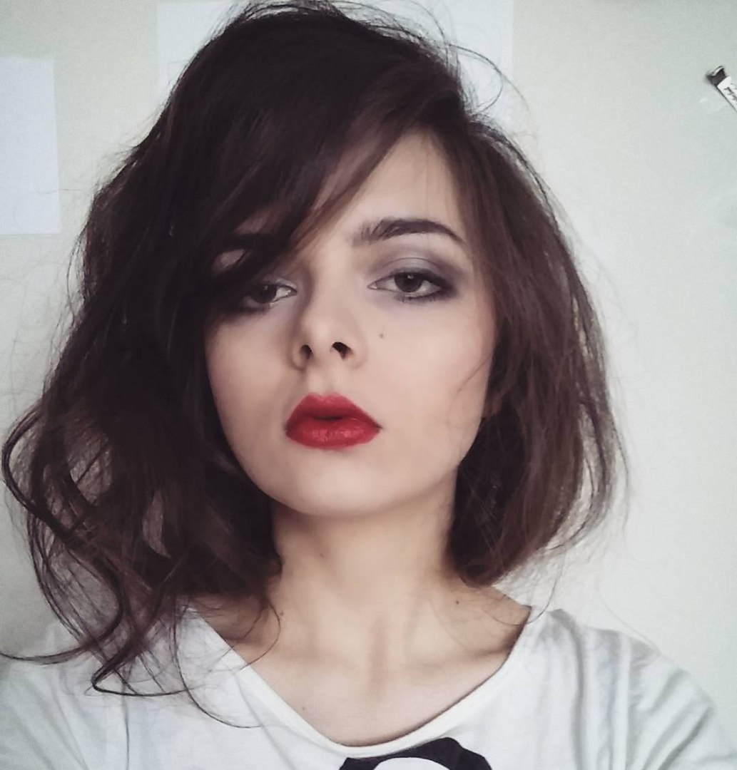 Medium Messy Side Part Hairstyle