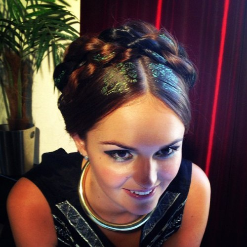 Braided Updo With Hair Stencils