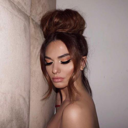 Big High Bun Updo