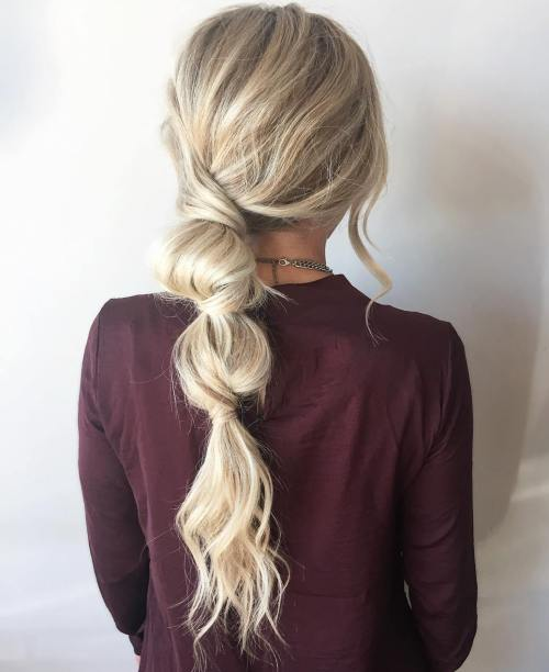 Messy Bubble Ponytail