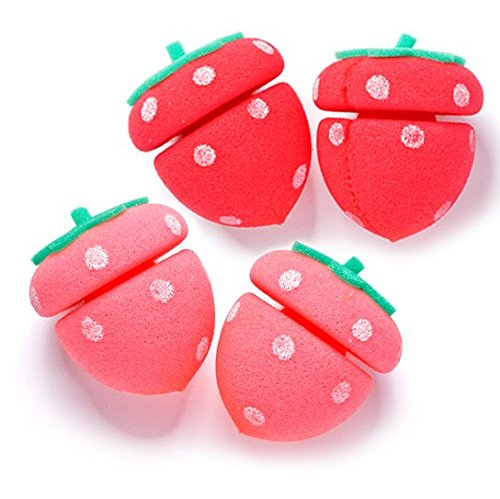 Strawberry Sponge Hair Roller