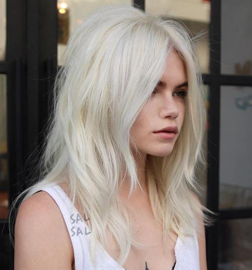 Medium Layered Blonde Hairstyle