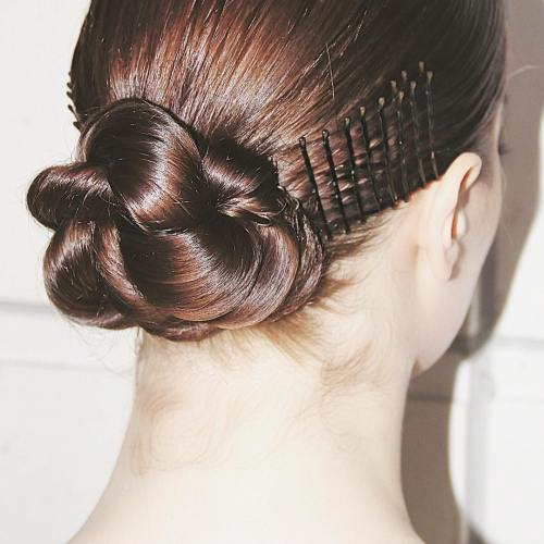 Ballerina Bun With Bobby Pins