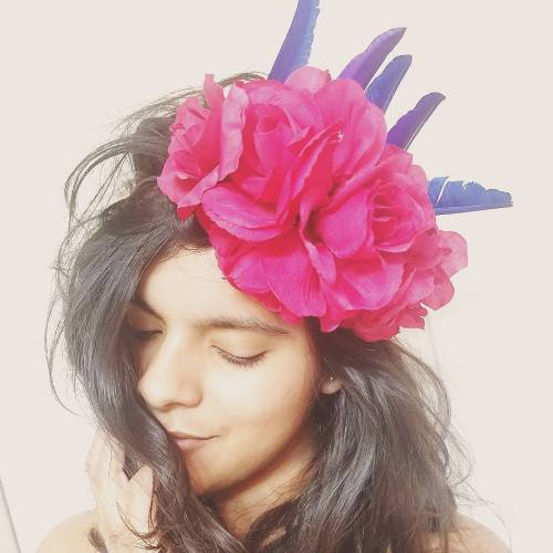 Messy Hair With Flower Crown