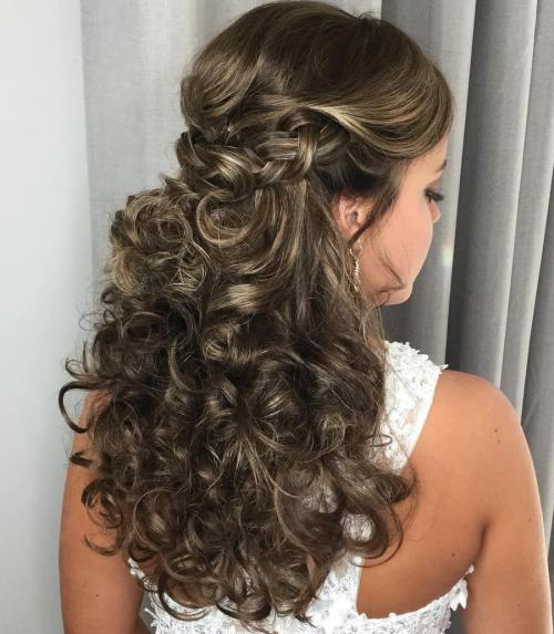 Wedding Hairstyle Curls: 20 Soft Curly Wedding Hairstyles