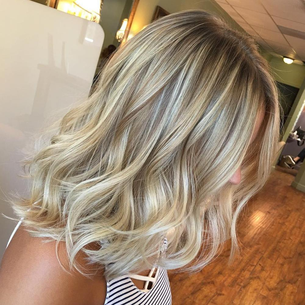 Incredible Medium Haircut Straight Shoulder Length Blonde Hairstyles