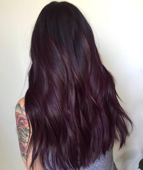 Burgundy Plum Ombre Hair