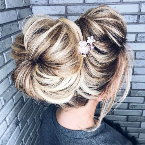 Big Messy Sock Bun Updo