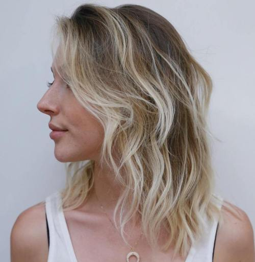 Medium Blonde Balayage Thin Hair