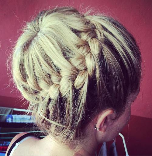 Bun And Braid Updo