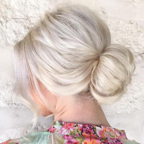 Blonde Low Sock Bun