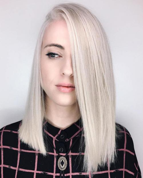 Medium Blunt Blonde Cut