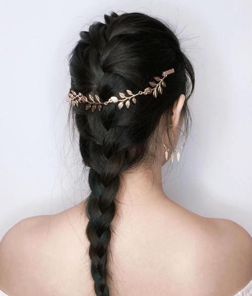 French Braid With Jewelry