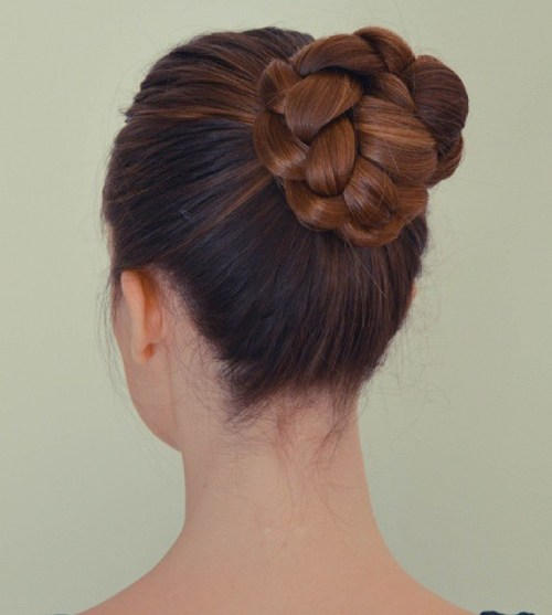 High Braided Ballerina Bun