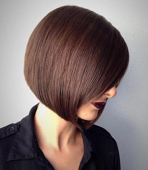Blunt Chestnut Brown Bob