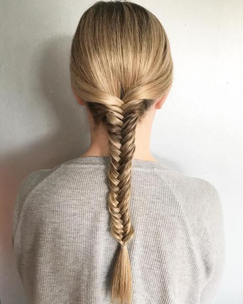 Sleek Fishtail Braid