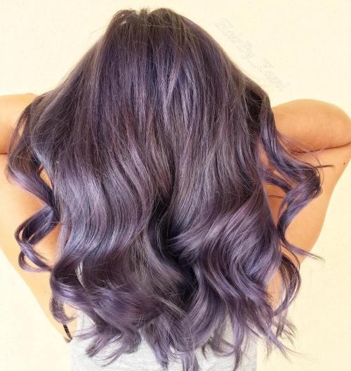 Pastel Lavender Layered Hair