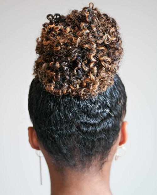 High Curly Bun