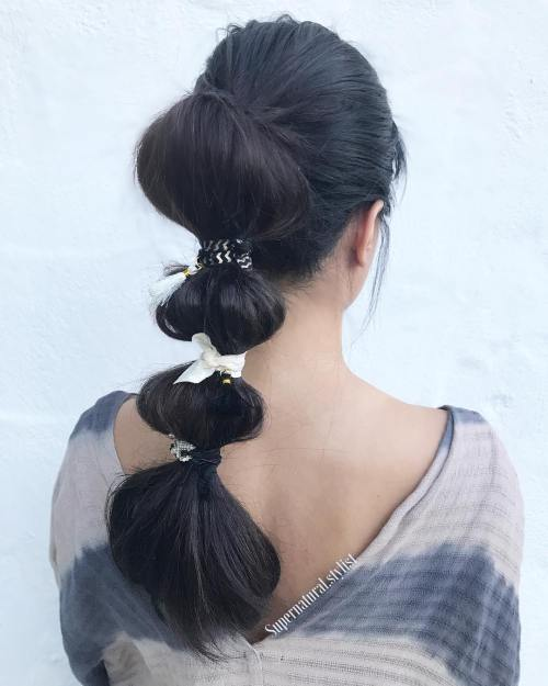 Lond Bubble Ponytail