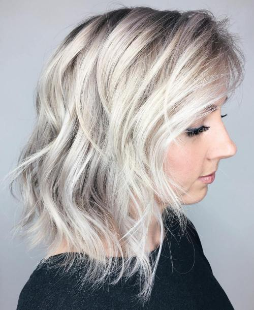 Long Tousled Layered Bob