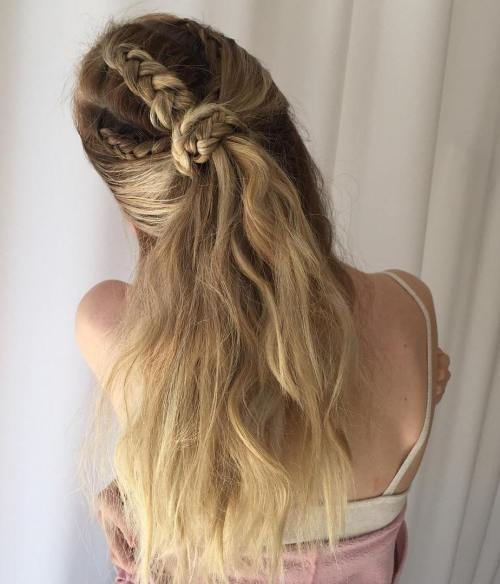 Braided Half Up Half Down Style