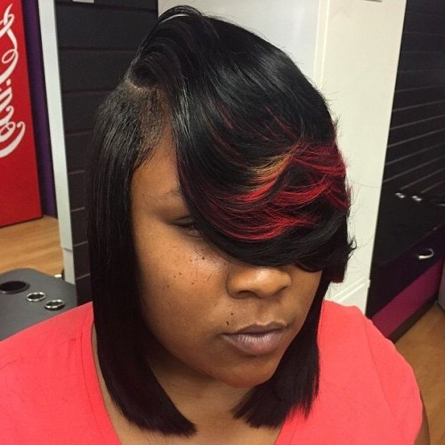 Collarbone Weave Bob With Side Layered Bangs