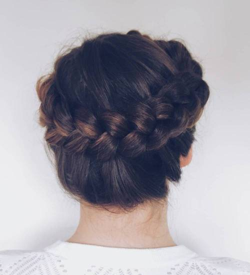 Crown Dutch Braid Updo