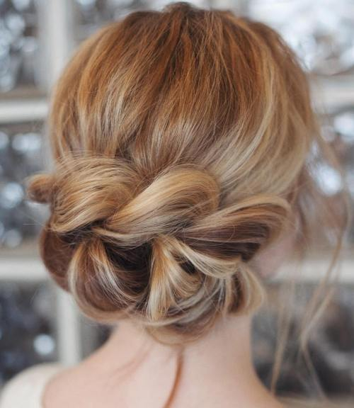 Updo With A Chunky Braid