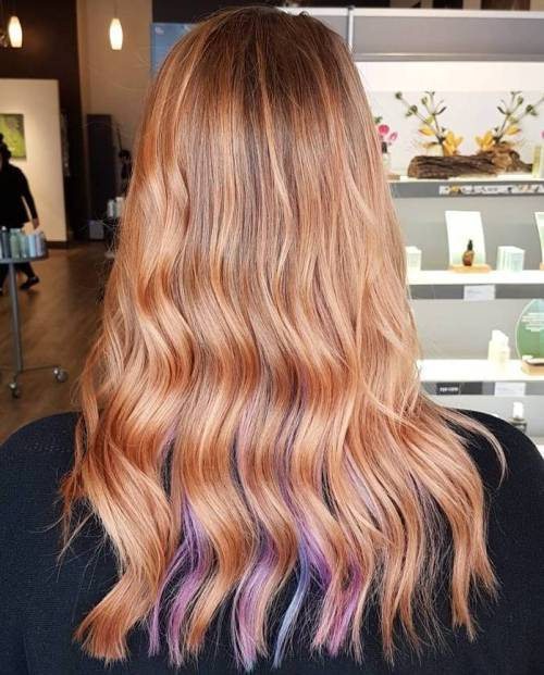 Balayage With Rose Gold