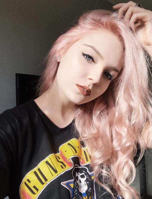 Long Pastel Pink Layered Hair