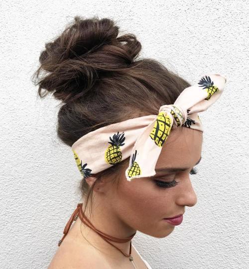 Messy Bun With A Headband